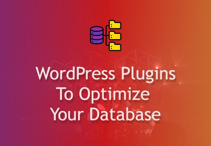 WP database plugins