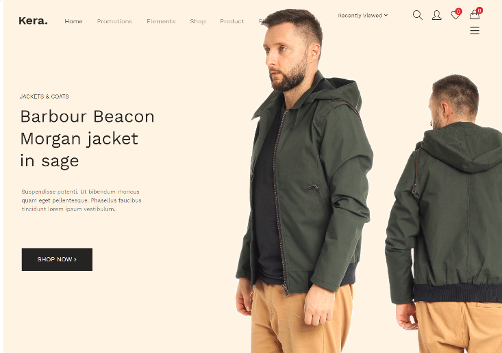 Elementor based eCommerce store template