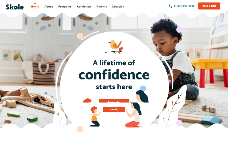 Skole Elementor based WP theme