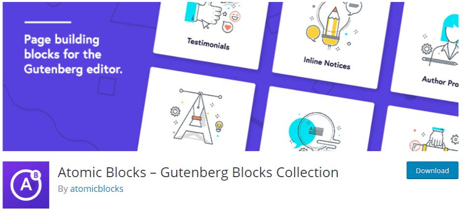 gutenberg blocks from atomic blocks