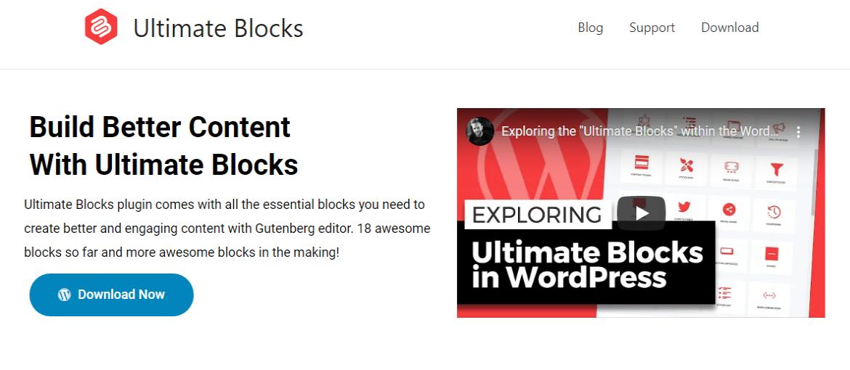 ultimate blocks for Gutenberg editor