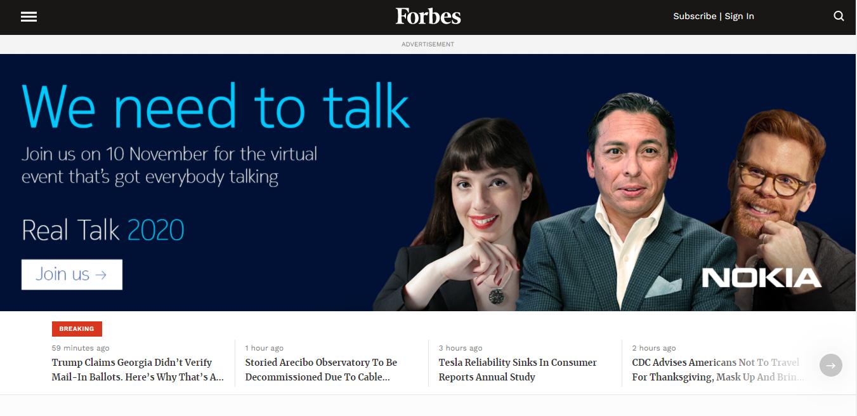 Forbes website screenshot