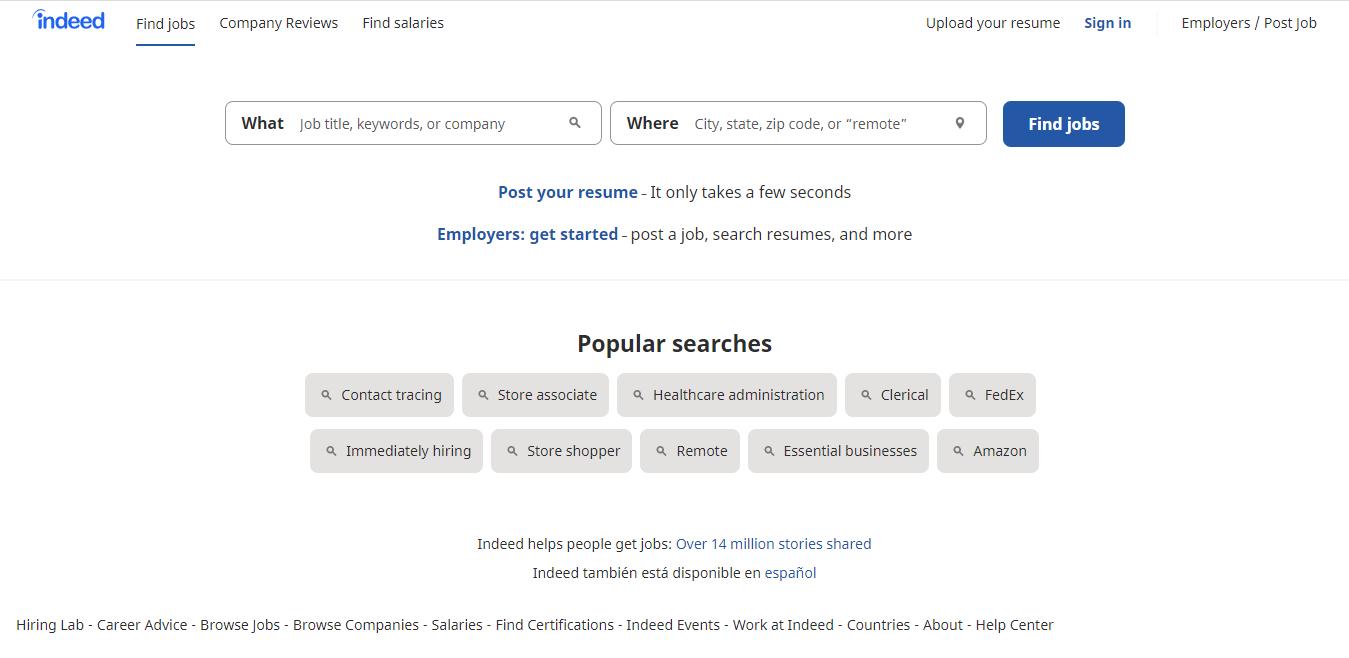 Jobs directory website