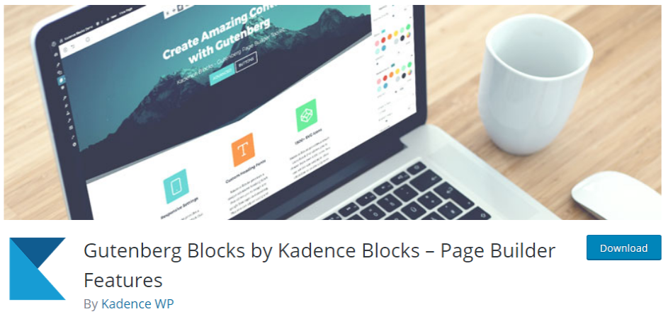 kadence blocks gutenberg plugin