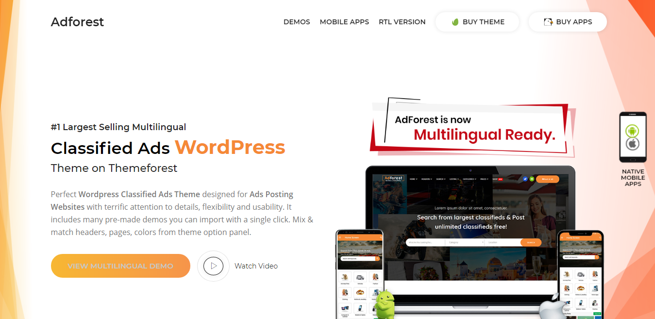 Adforest classified theme