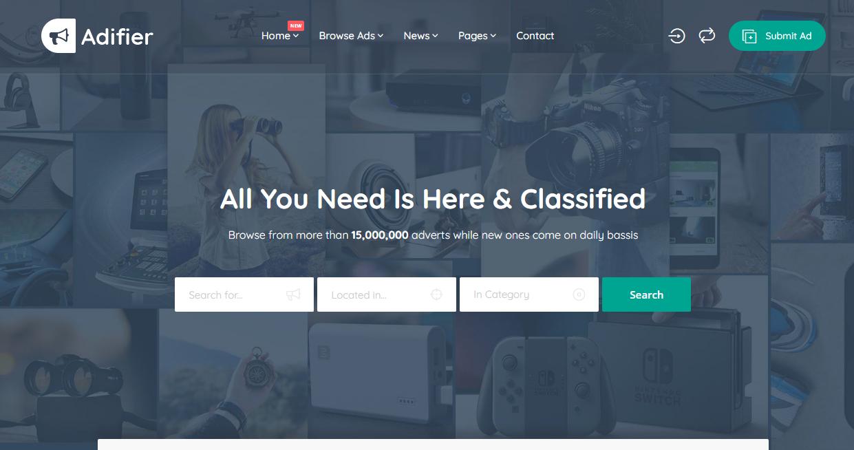 Adifier WordPress theme