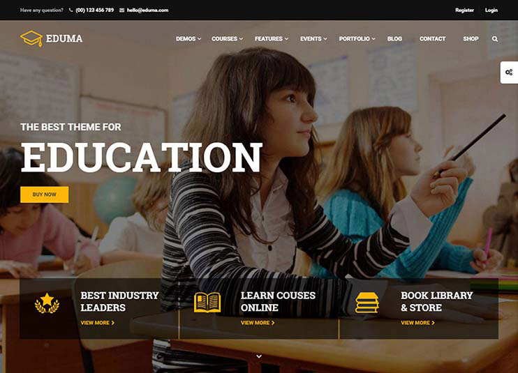 #1 Education WordPress Theme for 2016 at themeforest