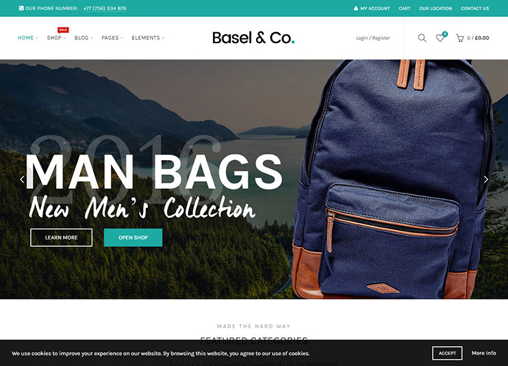 Basel - Responsive eCommerce Theme at ThemeForest