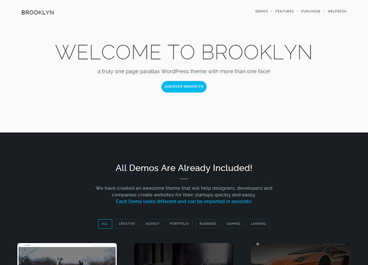 Brooklyn - Creative One Page Multi-Purpose Theme at themeforest