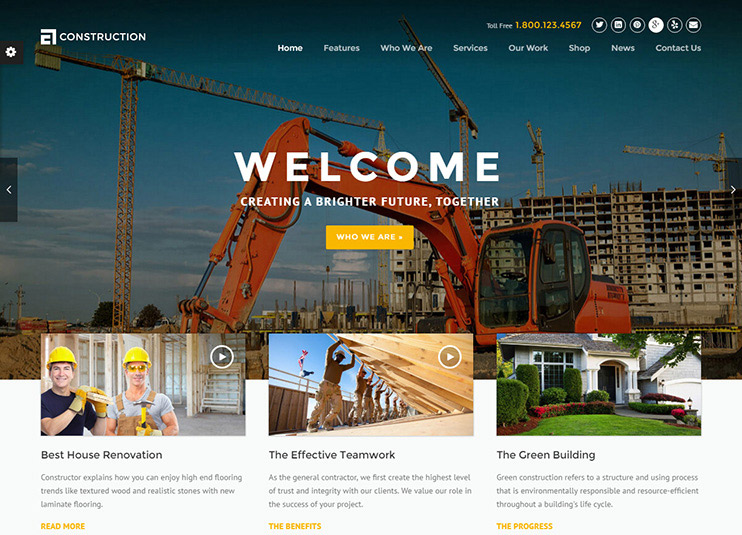 Construction Theme at ThemeForest