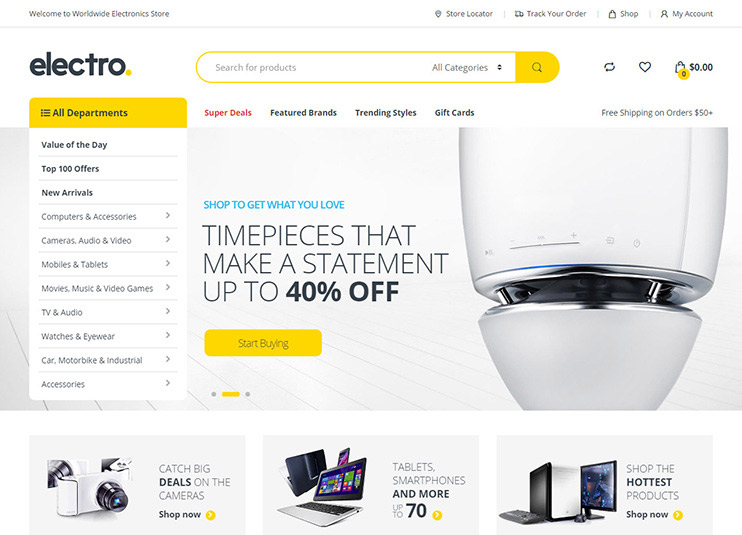 Electro Electronics Store WooCommerce Theme at ThemeForest