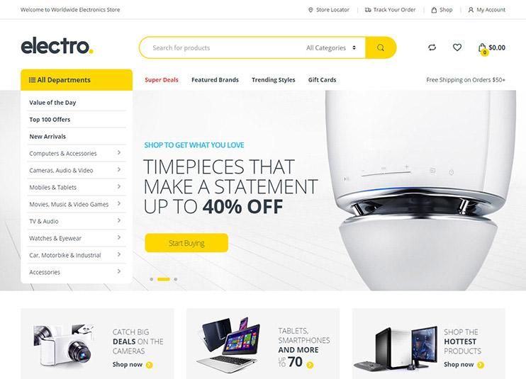 Electro Electronics Store WooCommerce Theme at ThemeForest