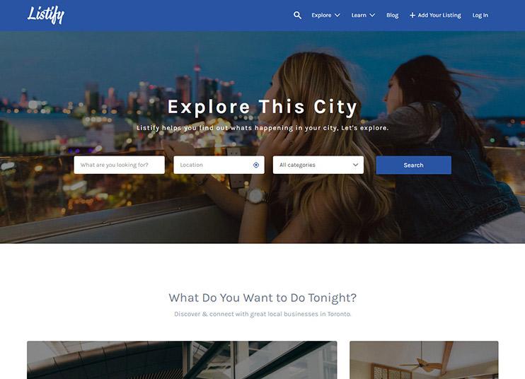 Listify - WordPress Directory Theme at ThemeForest