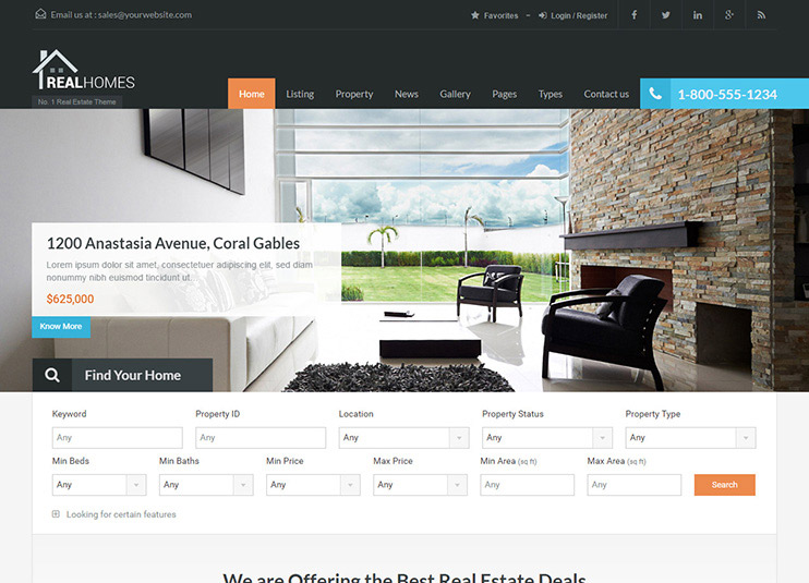 Real Homes - WordPress Real Estate Theme at ThemeForest