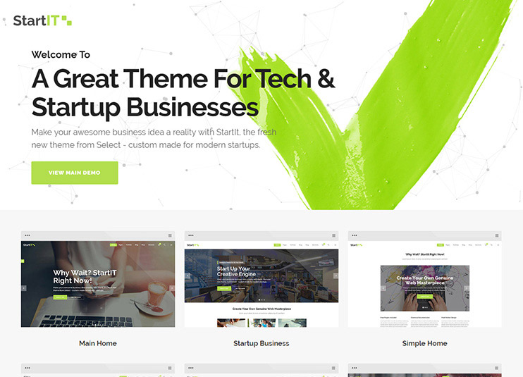 Startit wordpress theme at themeforest