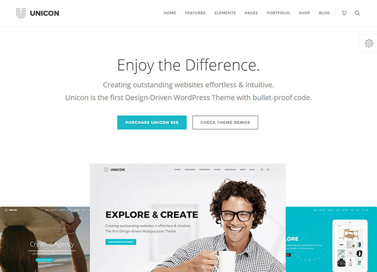 UNICON Design-Driven WordPress Theme at themeforest