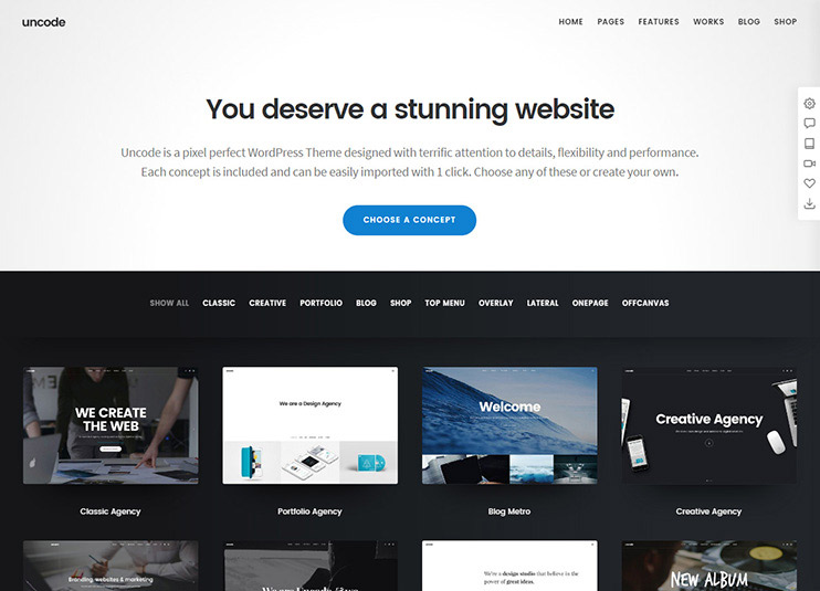 Uncode - Creative Multiuse WordPress Theme themeforest