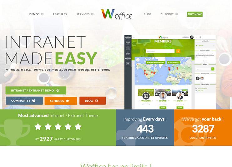 Woffice - Best Intranet Extranet WordPress Theme at themeforest